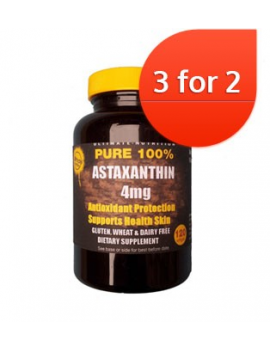 Astaxanthin 4mg 120 softgels 3 for 2
