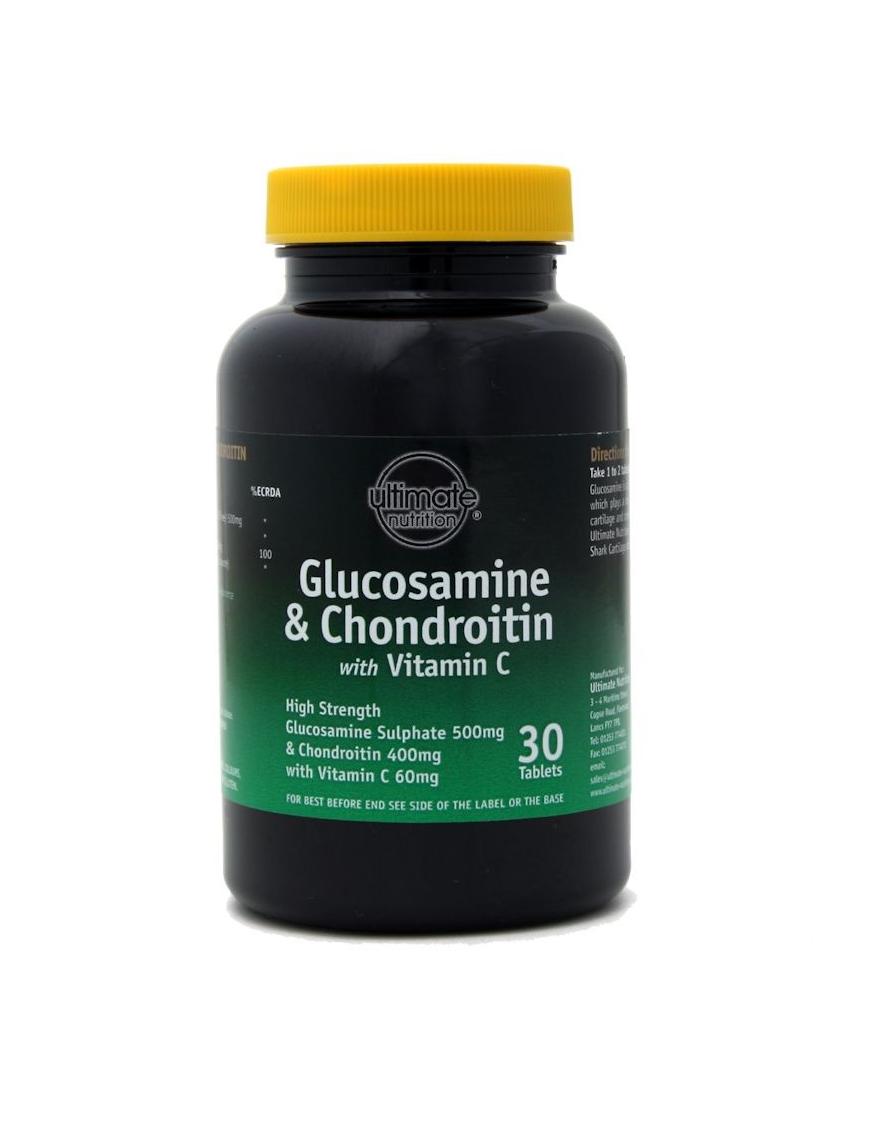 High Strength Glucosamine 500mg + Chondroitin 400mg 30 tablets