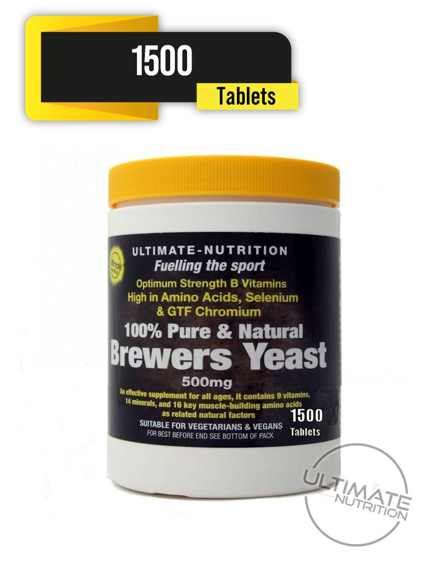 Brewers Yeast Tablets 1500 (Includes 60 FREE)