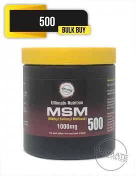 MSM 1000mg x 500 VEGI-CAPS (High Strength) BULK BUY