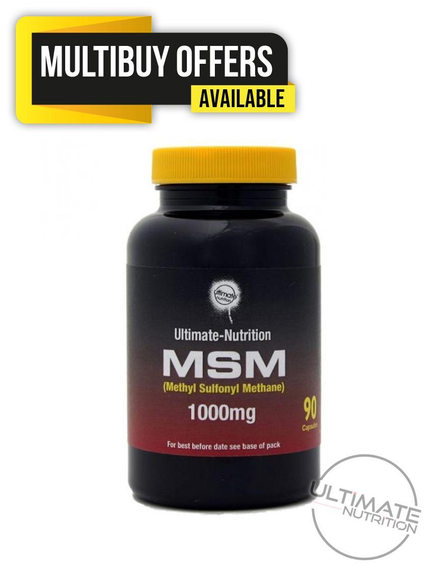 MSM 1000mg x 90 VEGI-CAPS (High Strength)