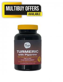 Turmeric 600mg with Black Pepper 5mg 90 capsules