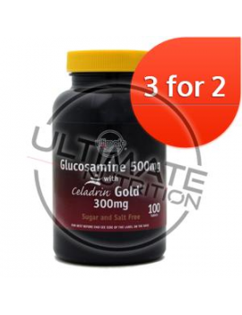 Glucosamine 500mg with Celadrin Gold 300mg 100 tablets 3 for 2